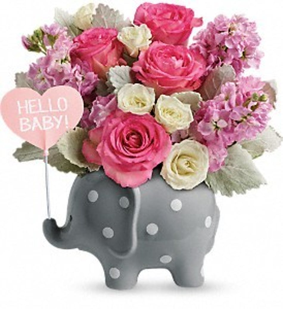 Hello Sweet Baby Girl Flowers Ny Gift Delivery