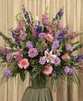 Soft Colored Funeral Arrangement