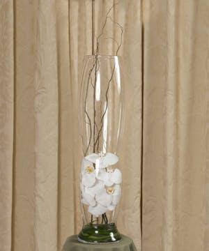 White Cut Phalaenopsis Elegance Vase
