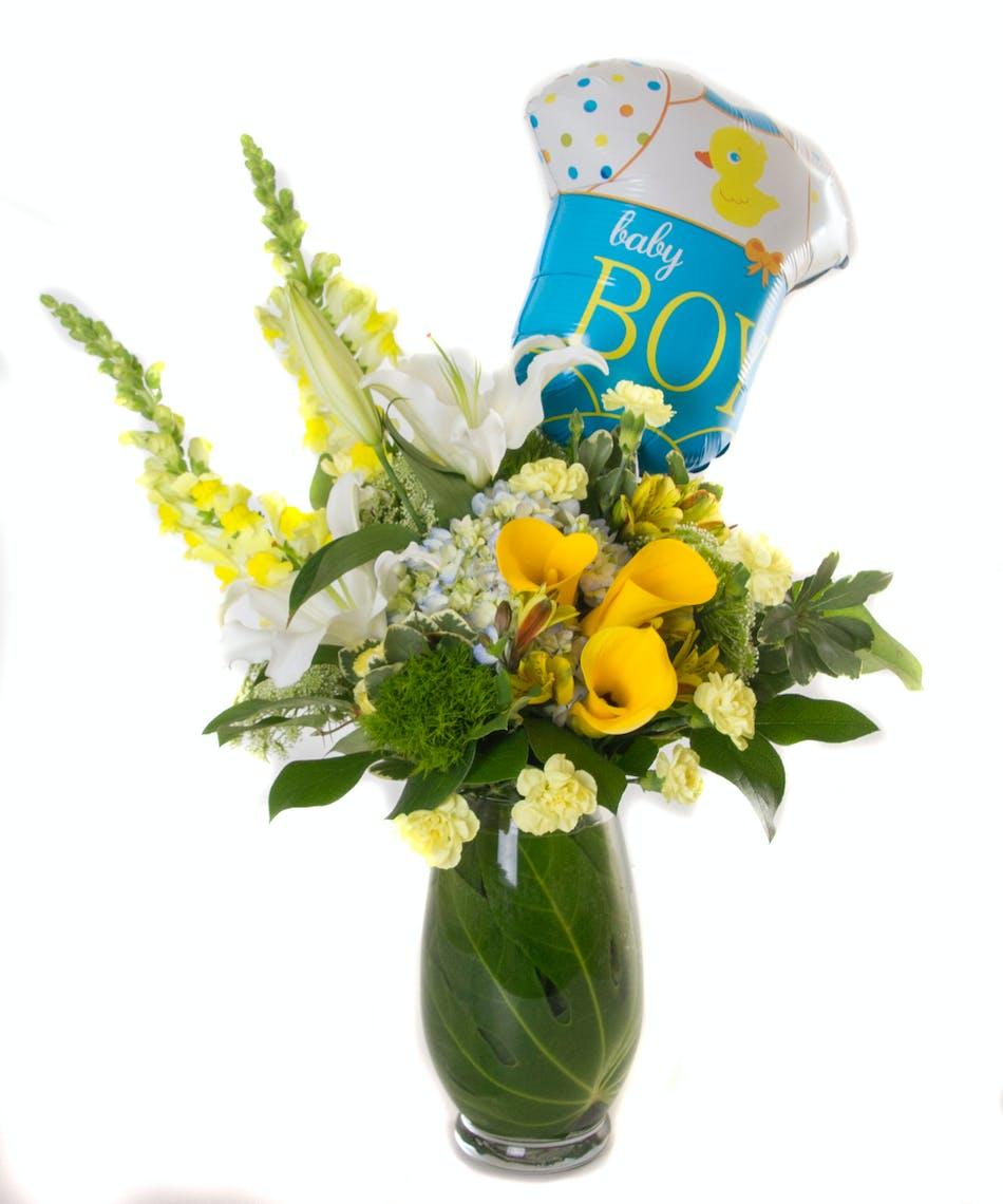 Sweet Baby Boy Flowers Balloon Kittelberger Florist