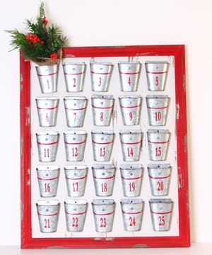 Galvanized Tin Advent Calendar