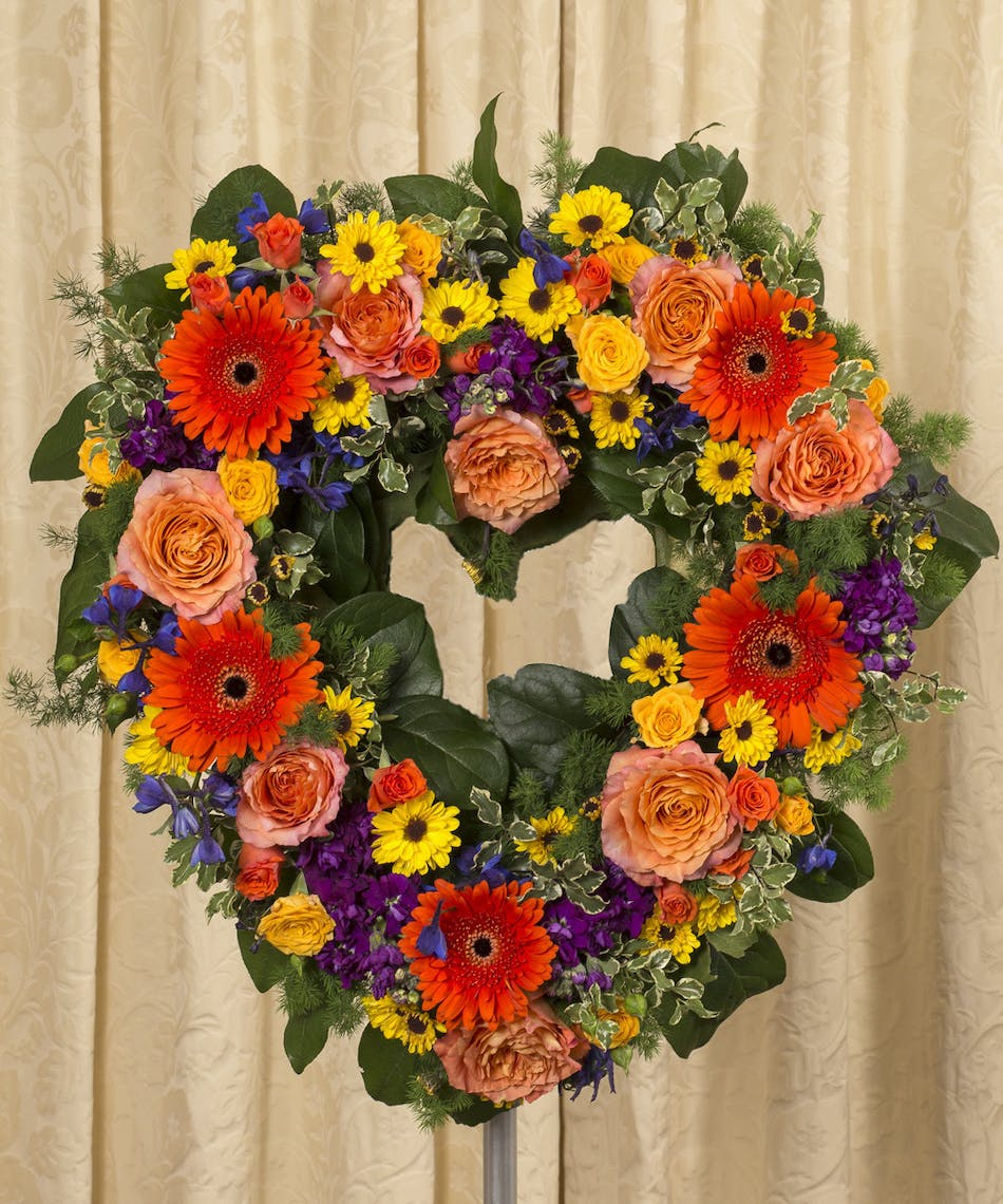 Vibrant Open Heart Rochester Webster Funeral Flowers