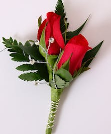 Red Sweetheart Boutonniere