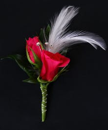 Hot Pink Sweetheart Boutonniere
