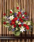Patriotic Funeral Arrangement