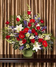 Patriotic Funeral Arrangement