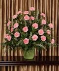 Pink Carnation Funeral Arrangement