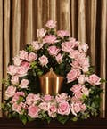 Pink Rose Urn Arrangement