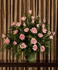 Pink Rose Funeral Arrangement