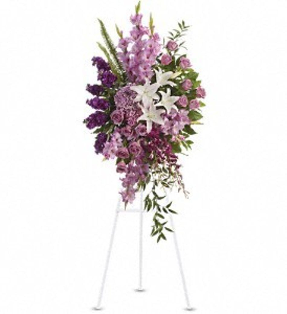 Sacred Garden Spray Rochester Funeral Flower Delivery