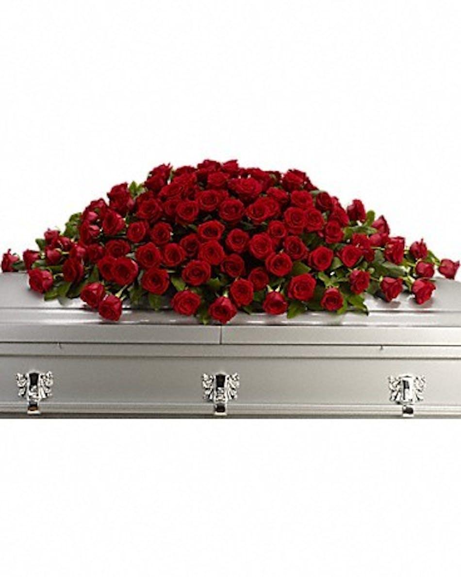Greatest Love Casket Spray   Rochester Funeral Flowers