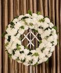 White Carnation Wreath