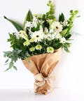 Elegant White and Green Bloom Bunch