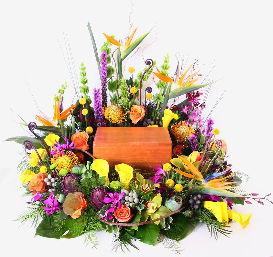 Tropical Urn Tribute Rochester Urn Amp Cremation Flowers