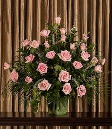 Pink Rose Funeral Arrangement