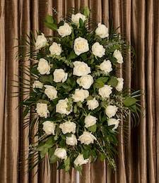 White Rose Standing Spray