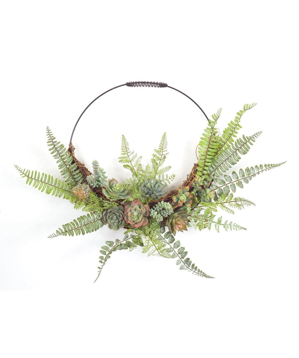 Fern Succulent Wall Decor